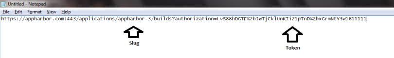 AppHarbor Build URL
