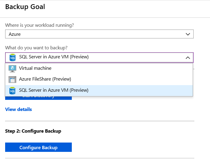 Using Azure Recovery Vault to backup SQL Server within your